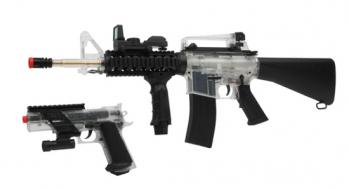 Electric Colt M4 Field Duty Kit A17 Rifle FPS-300, MK IV Spring Pistol FPS-205 Airsoft Gun
