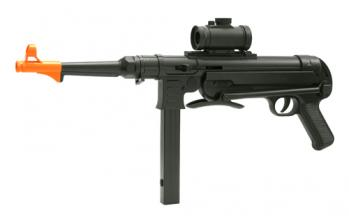 Spring MP40 SMG FPS-280 Folding Stock, Red Dot Sight Airsoft Gun