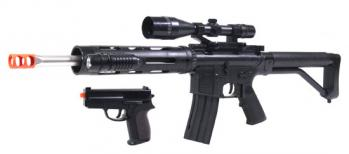Spring UK Arms P1136 Rifle FPS-280 Pistol FPS-120 Combo Pack Airsoft Guns